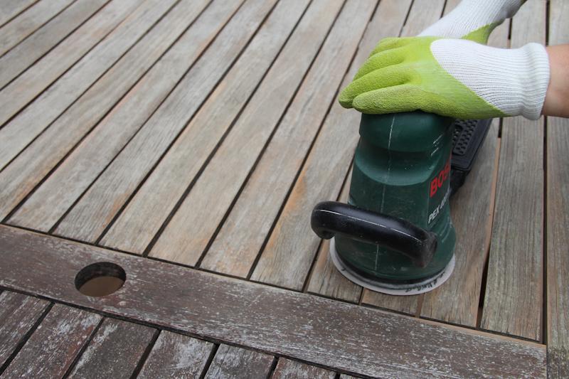 Comment choisir une ponceuse pour sa table de jardin blog jardin - Repeindre une table de jardin en plastique ...
